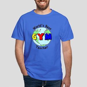 World's Best Gym Teacher Dark T-Shirt
