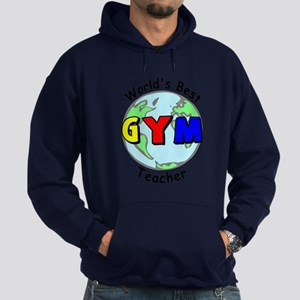 World's Best Gym Teacher Hoodie (dark)
