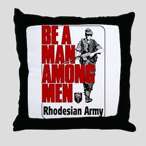 Rhodesian Army Poster Throw Pillow