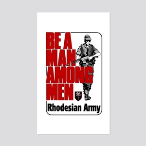 Rhodesian Army Poster Rectangle Sticker
