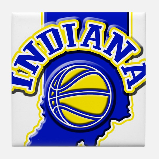 Indiana Basketball Tile Coaster