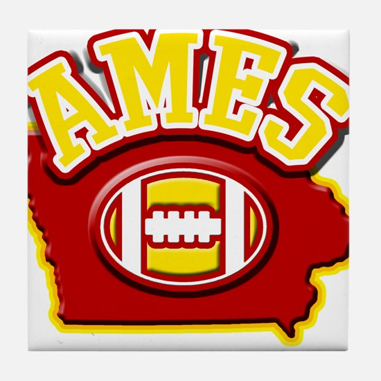 Ames Football Tile Coaster