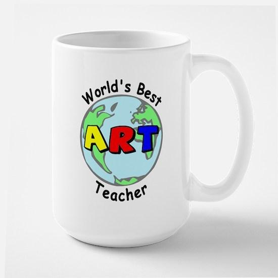 World's Best Art Teacher Large Mug