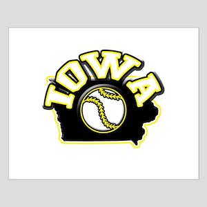 Iowa Baseball Small Poster