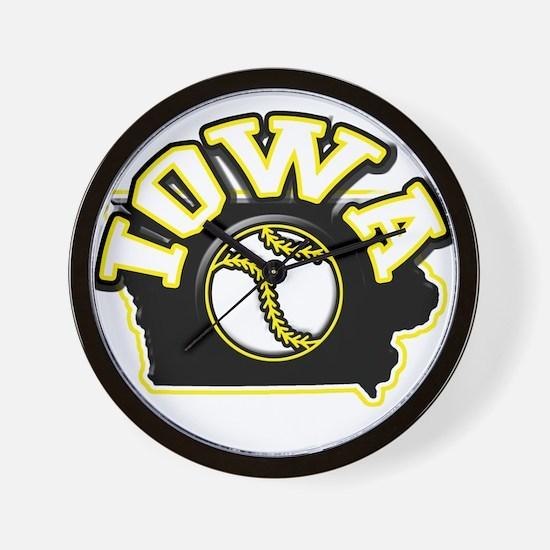 Iowa Baseball Wall Clock