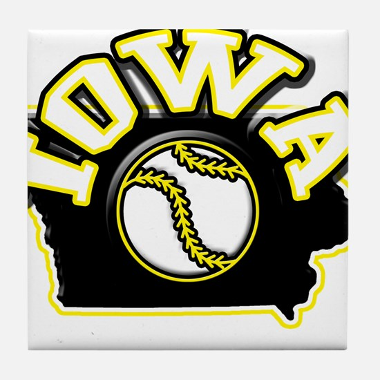 Iowa Baseball Tile Coaster