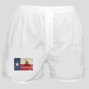 Texas and Gadsden Flag Boxer Shorts