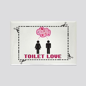 Toilet Love Engrish Rectangle Magnet