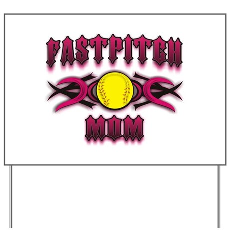 Fastpitch Tribal Pink Yard Sign