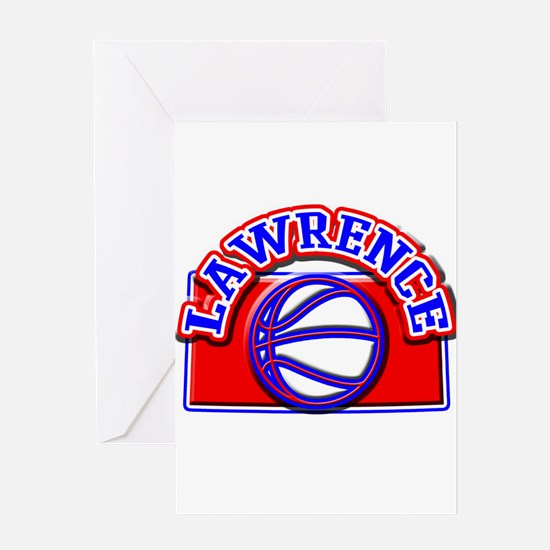 Lawrence Basketball Greeting Card