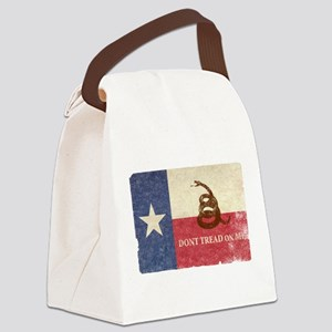 Texas and Gadsden Flag Canvas Lunch Bag