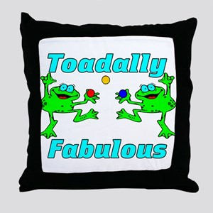 Toadally Fabulous Throw Pillow
