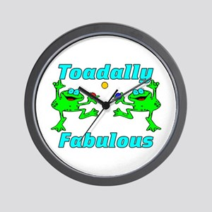 Toadally Fabulous Wall Clock