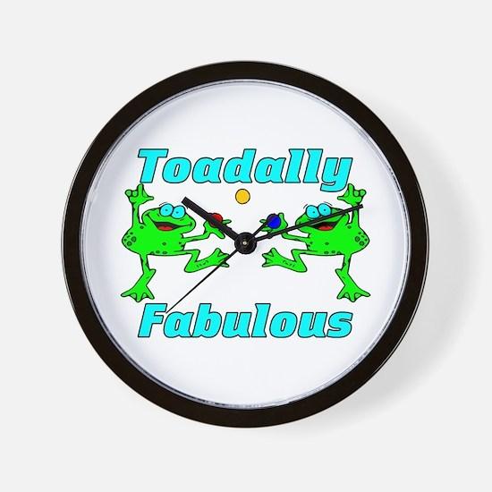 Toadally Fabulous Wall Clock