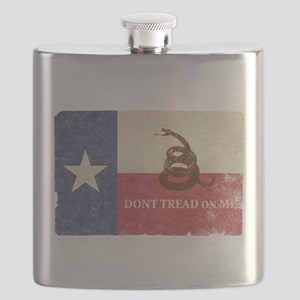 Texas and Gadsden Flag Flask