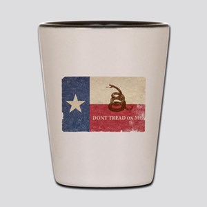 Texas and Gadsden Flag Shot Glass