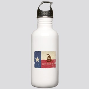 Texas and Gadsden Flag Water Bottle
