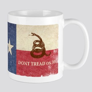 Texas and Gadsden Flag Mugs