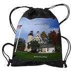 Mcgulpin Point Lighthouse Drawstring Bag