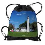 Pt. Aux Barques Lighthouse Drawstring Bag