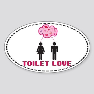 Toilet Love Engrish Oval Sticker