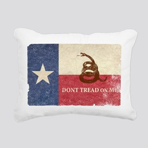 Texas and Gadsden Flag Rectangular Canvas Pillow