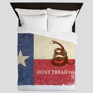 Texas And Gadsden Flag Queen Duvet