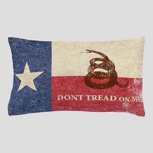 Texas and Gadsden Flag Pillow Case
