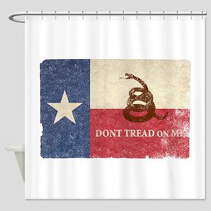 Texas And Gadsden Flag Shower Curtain