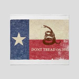 Texas and Gadsden Flag Throw Blanket