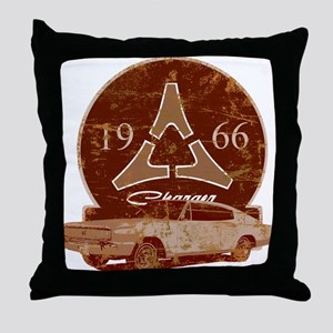 66 Charger Distressed Throw Pillow