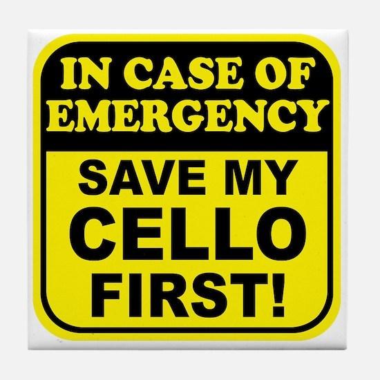 Save My Cello Tile Coaster