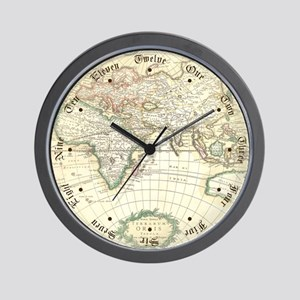 Old World Antique map Wall Clock