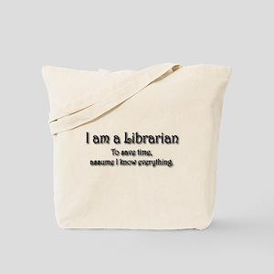 I am a Librarian Tote Bag