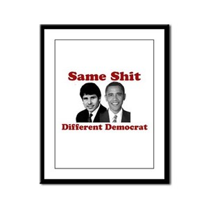 Same Shit Different Democrat Framed Panel Print