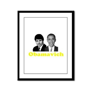 Obamavich Framed Panel Print