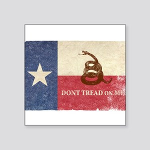 Texas and Gadsden Flag Sticker