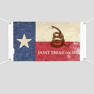 Texas and Gadsden Flag Banner