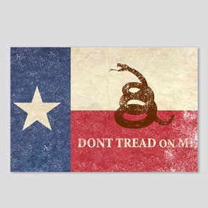 Texas and Gadsden Flag Postcards (Package of 8)