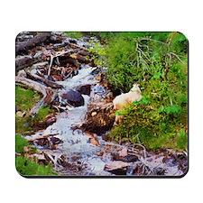 Mountain Goat & Stream Mousepad