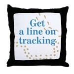 Line On Tracking Throw Pillow