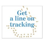 Line On Tracking Small Poster