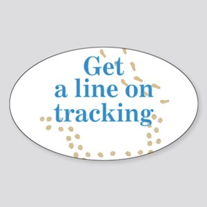 Line On Tracking Oval Sticker