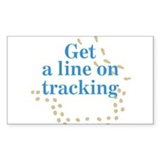 Line On Tracking Rectangle Sticker