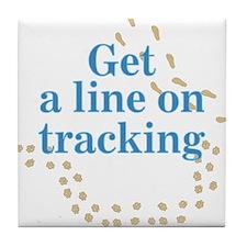 Line On Tracking Tile Coaster