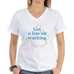 Line On Tracking Women's V-Neck T-Shirt