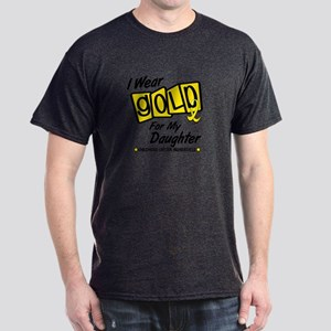 I Wear Gold For My Daughter 8 Dark T-Shirt