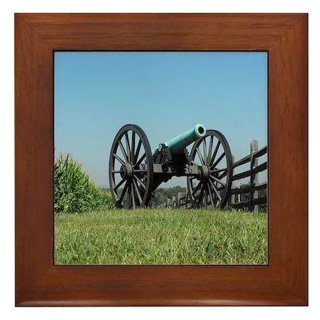 Cannon at Antietam Framed Tile