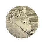 """Shiba Inu Dog 3.5"""" Button (100 pack)"""