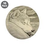"""Shiba Inu Dog 3.5"""" Button (10 pack)"""